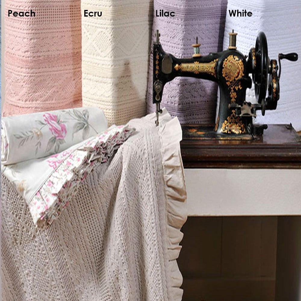 Κουβέρτα Με Βολάν ΣΧ.454 White Down Town Μονό 170x240cm