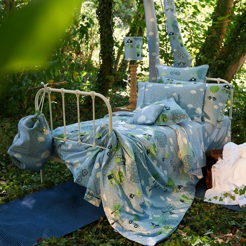 Πάπλωμα Παιδικό ΣΧ.112 Μάλλινο Blue-Green Down Town Μονό 170x240cm