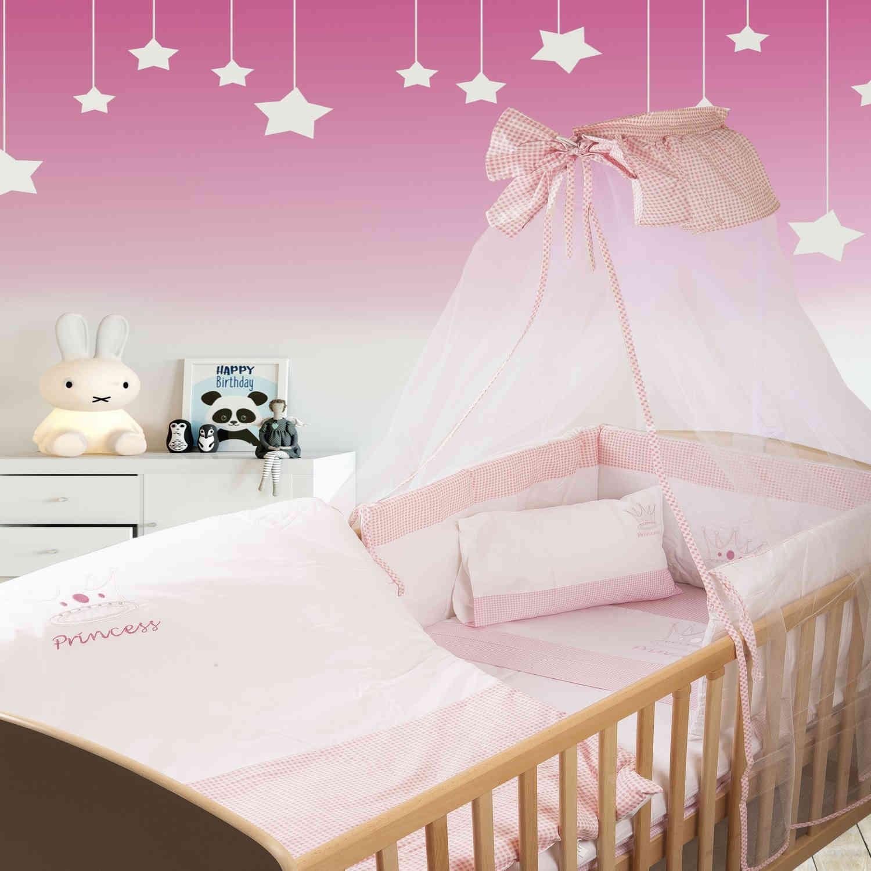 Κουνουπιέρα Βρεφική Princess 33 Λευκό-Ροζ DimCol 160x490cm