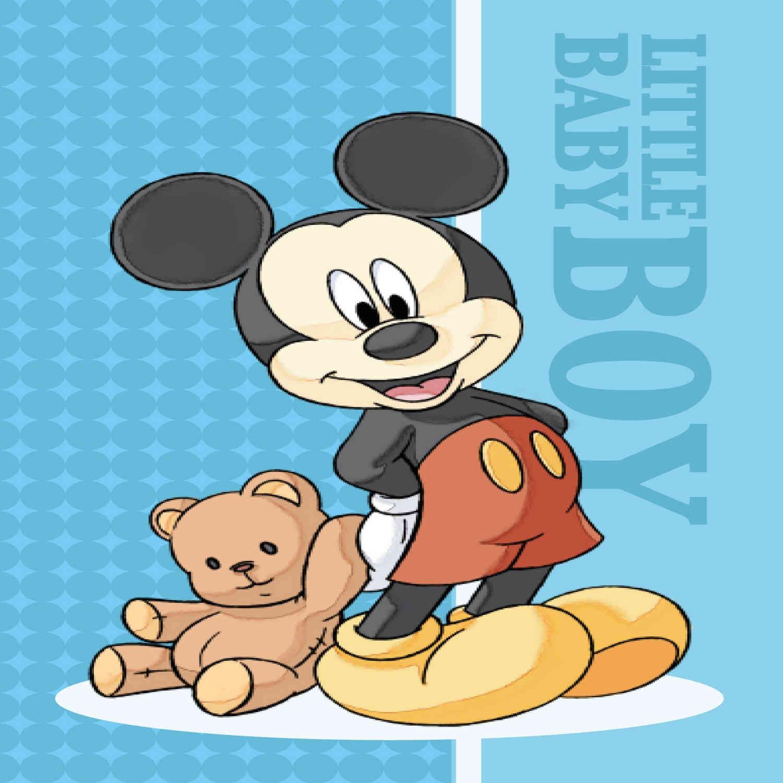 Πετσέτα Παδική Disney Mickey 01 Digital Print DimCol Προσώπου 40x60cm