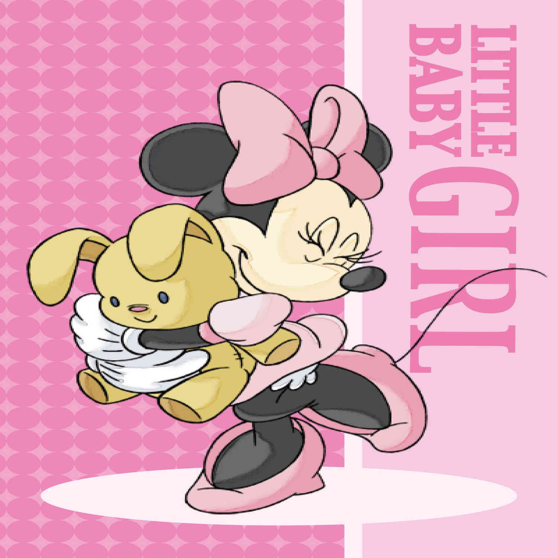 Πετσέτα Παδική Disney Minnie 01 Digital Print DimCol Προσώπου 40x60cm