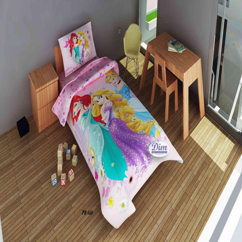 Πάπλωματοθήκη Σετ 2 Τεμ Παιδική Disney Princess 660 Digital Print DimCol Μονό 160x240cm