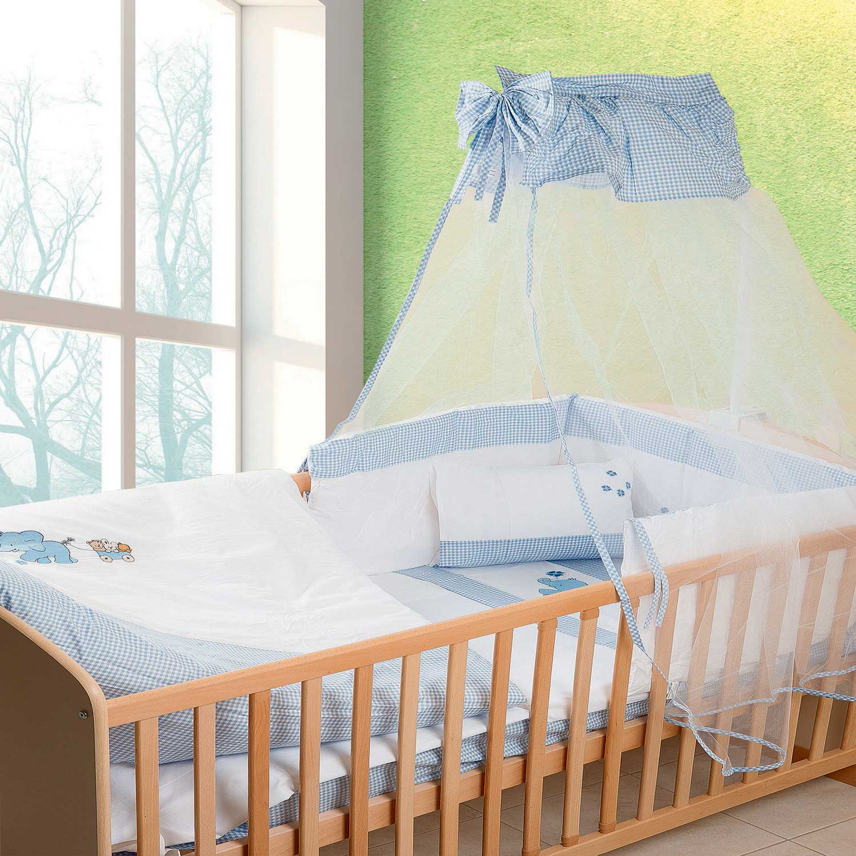 Κουνουπιέρα Βρεφική Ελεφαντάκι 18 Λευκό-Σιελ DimCol 160x490cm