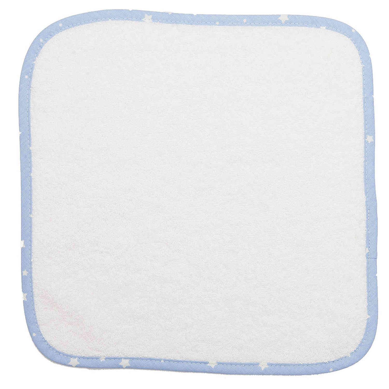 Λαβέτες Ώμου Βρεφικές – 03 Λευκό-Σιελ DimCol Λαβέτα 30x30cm