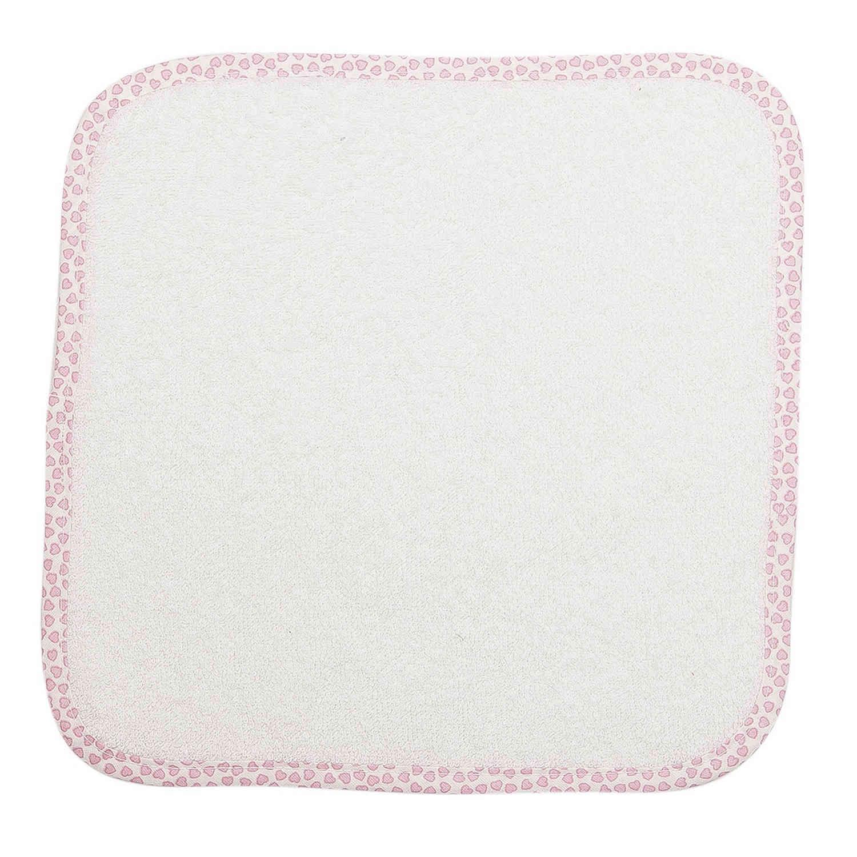 Λαβέτες Ώμου Βρεφικές – 12 Λευκό-Ροζ DimCol Λαβέτα 30x30cm