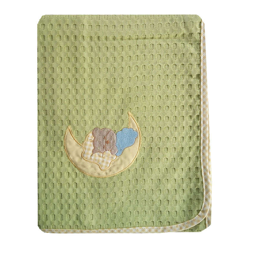 Κουβέρτα Πικέ Βρεφική Φεγγαράκι 131 Λαχανί DimCol Αγκαλιάς 80x110cm