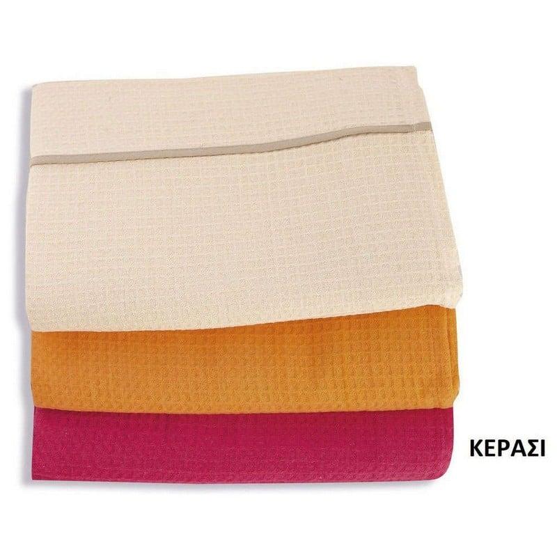Κουβέρτα Πικέ – Κερασί DimCol Ημίδιπλο 170x260cm