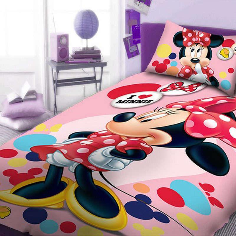 Σεντόνια Παιδικά Σετ 2τεμ Minnie 952 Digital Print DimCol Μονό 165x245cm