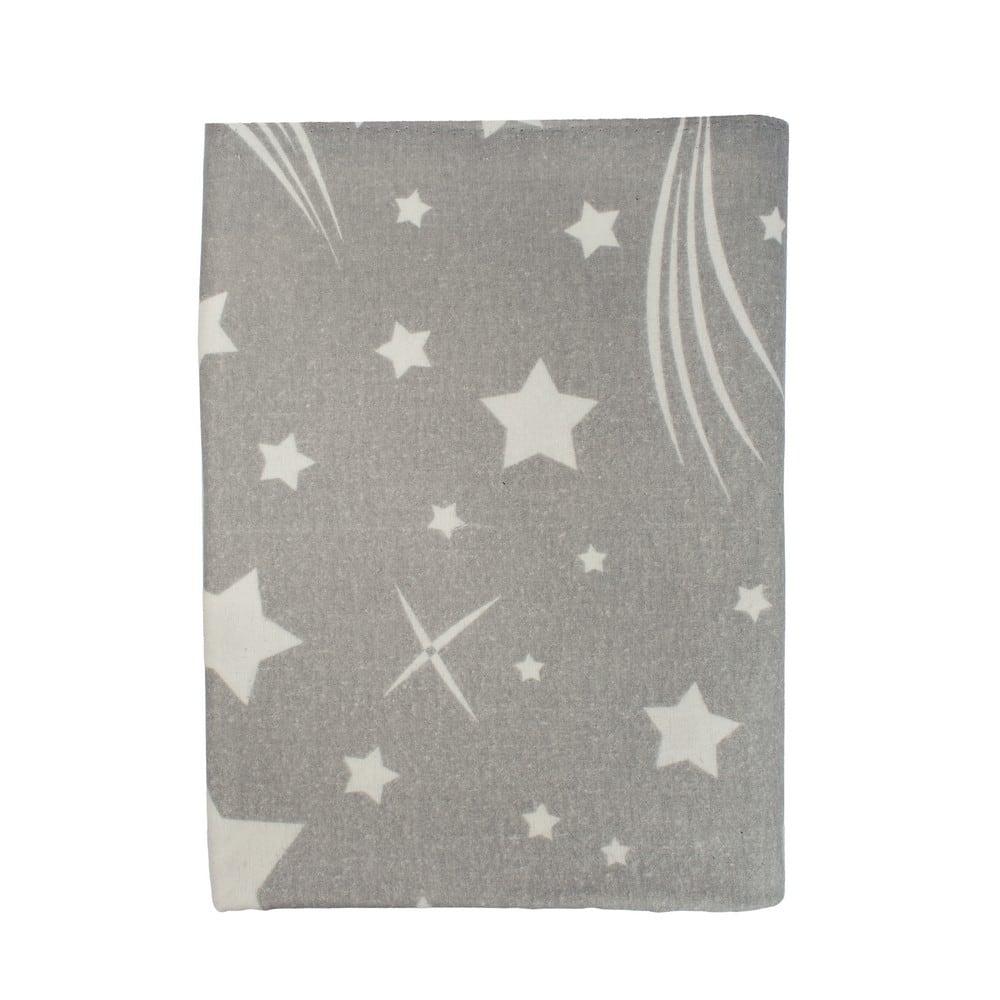 Μαξιλαροθήκη Παιδική Φανελένια Star 38 Grey DimCol 50Χ70 50x70cm