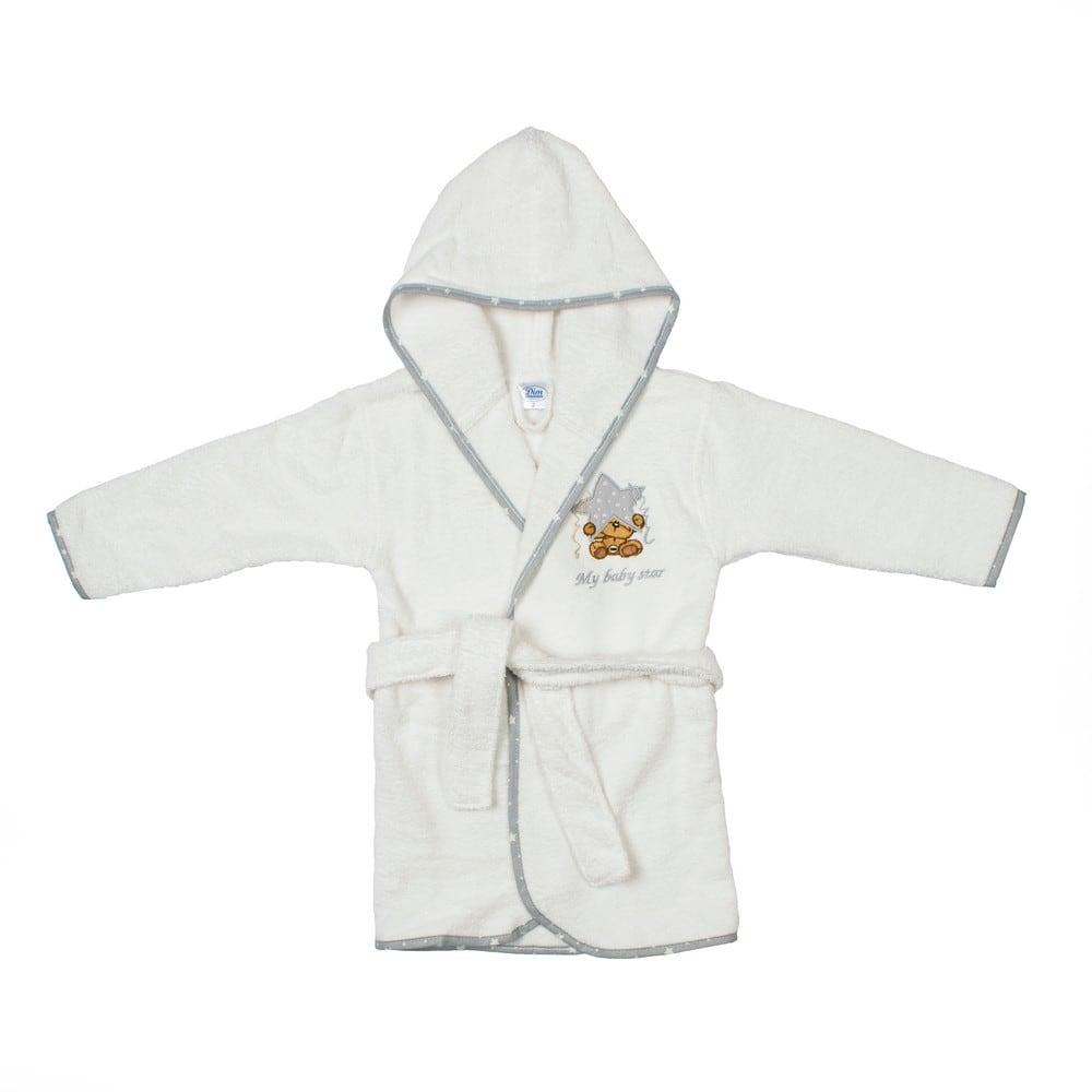 Μπουρνούζι Βρεφικό Αστέρι 124 White-Grey DimCol 2-4 ετών No 4