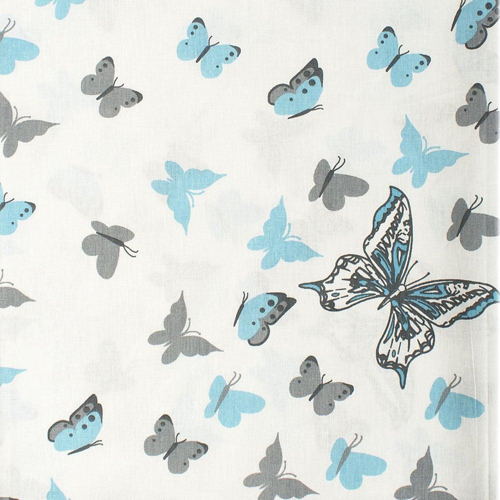 Παπλωματοθήκη Βρεφική Butterfly 56 Sky blue DimCol 120x160cm
