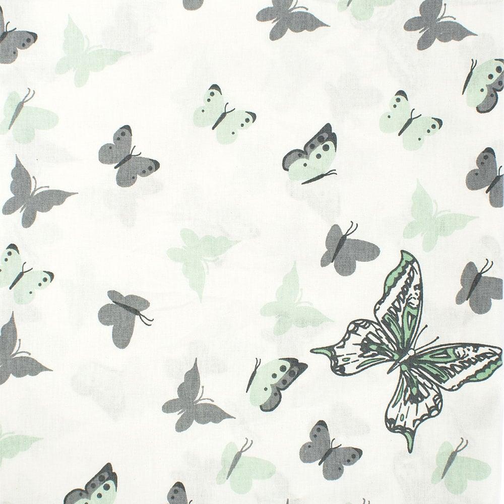 Παπλωματοθήκη Βρεφική Butterfly 57 Green DimCol 120x160cm