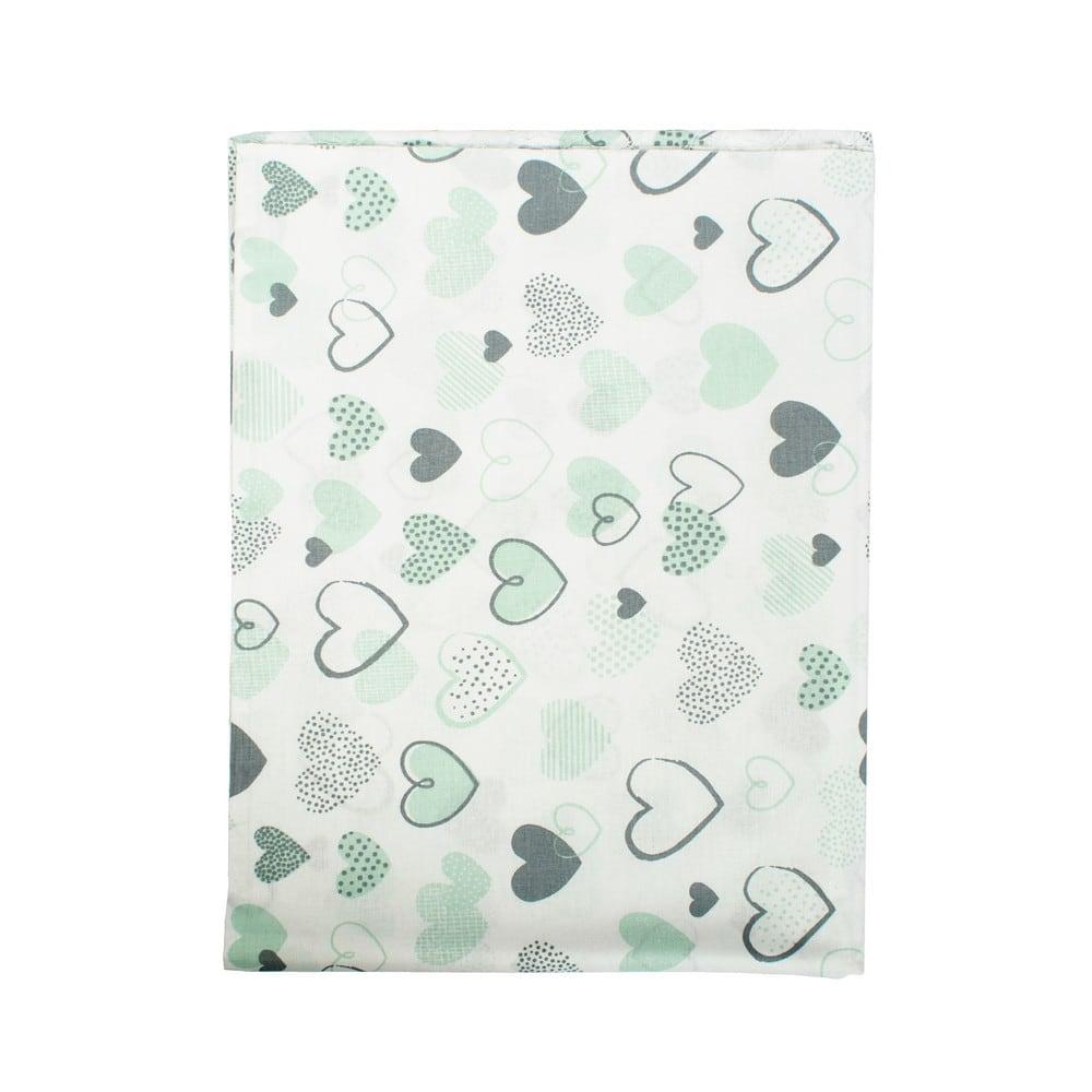 Σεντόνι Βρεφικό Hearts 10 Green DimCol Λίκνου 80x110cm