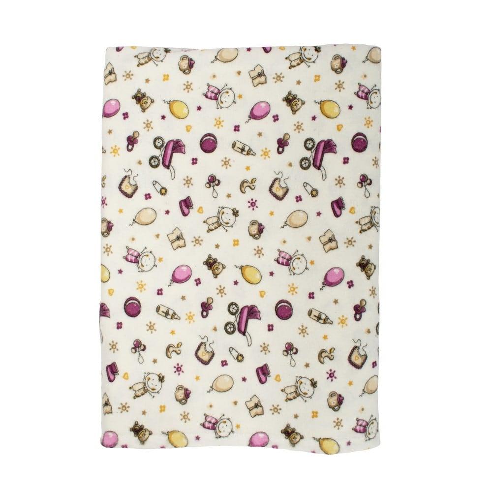 Σεντόνι Βρεφικό Φανελένιο Baby 01 Pink DimCol Λίκνου 80x110cm