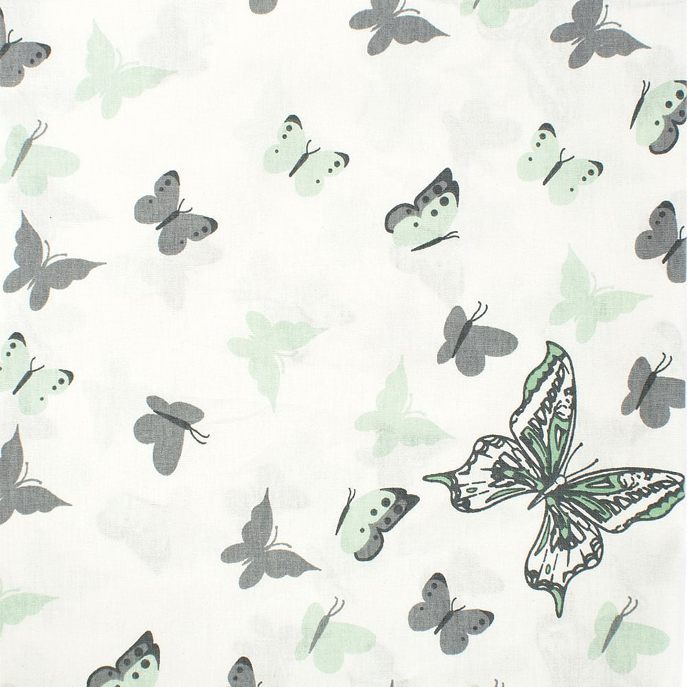 Σεντόνια Βρεφικά Σετ 3τμχ Butterfly 57 Green DimCol Κούνιας 120x160cm