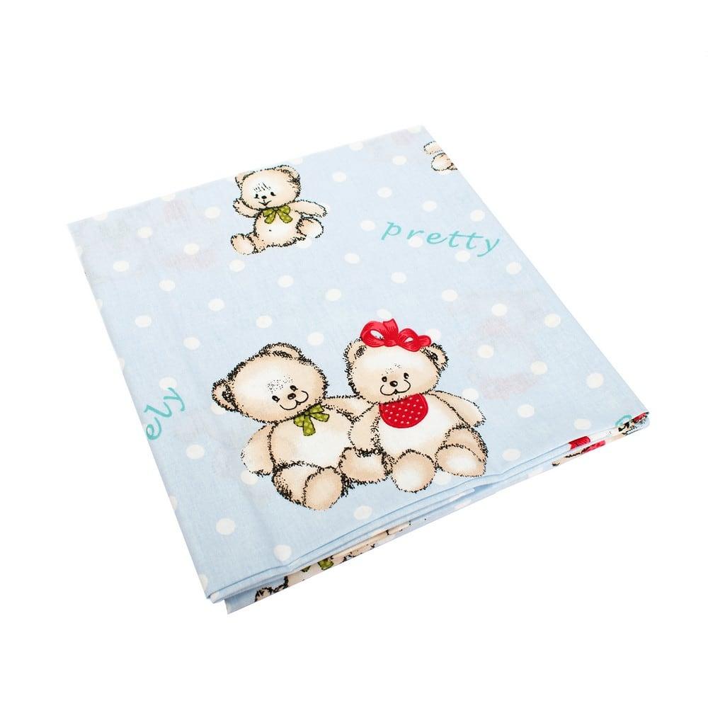 Σεντόνια Παιδικά Σετ 3τμχ Two Lovely Bears 64 Blue DimCol Μονό 160x240cm