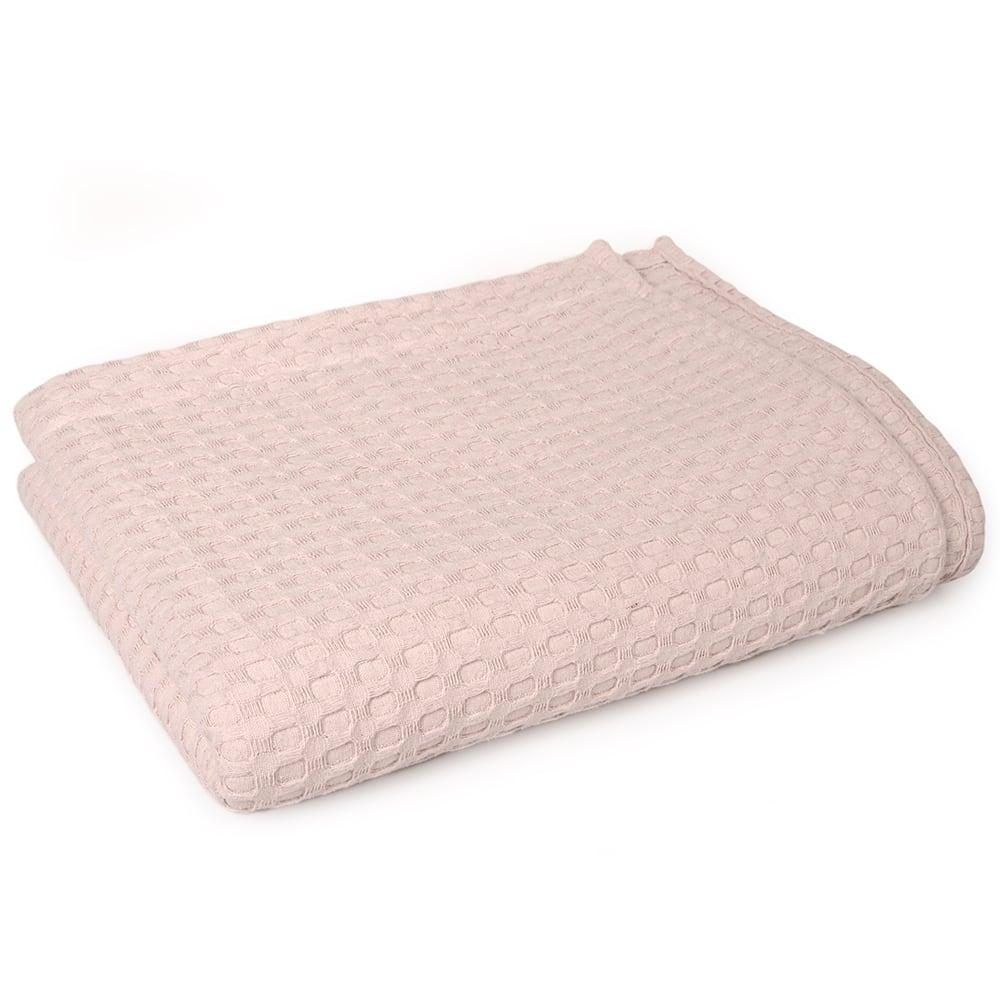 Κουβέρτα Παιδική Πικέ Μονόχρωμη Pink DimCol Μονό 165x255cm