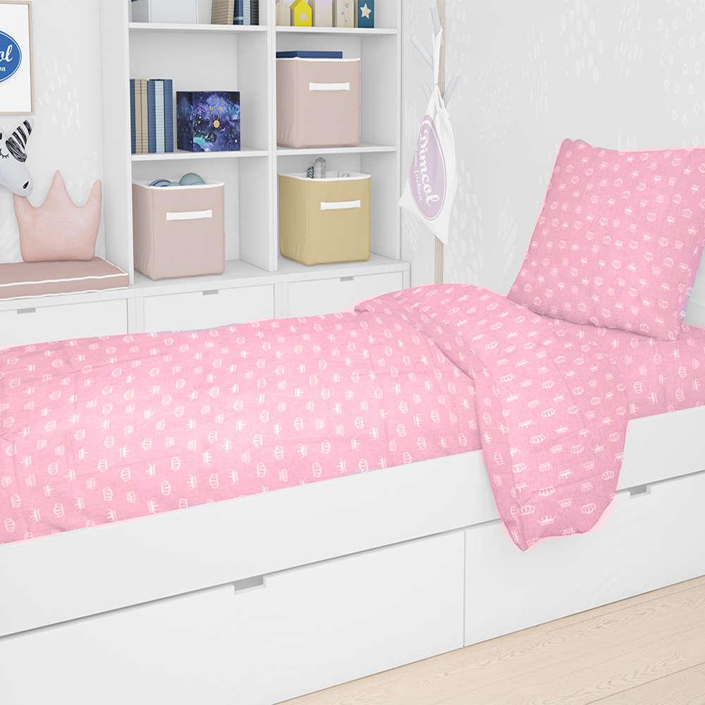 Πάπλωμα Παιδικό Εμπριμέ Princess 47 Pink DimCol Μονό 160x240cm