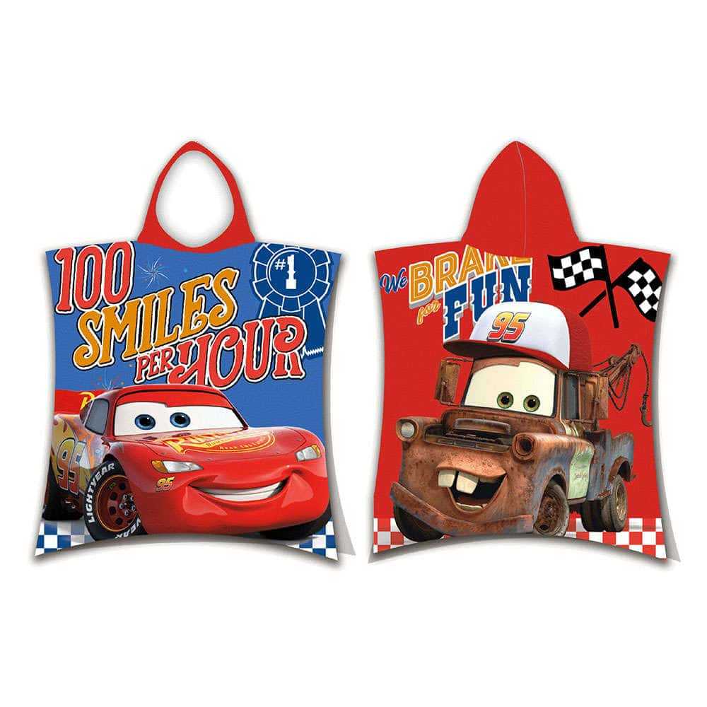 Πόντσο Disney Cars 06 Blue-Red DimCol 0-2 ετών One Size