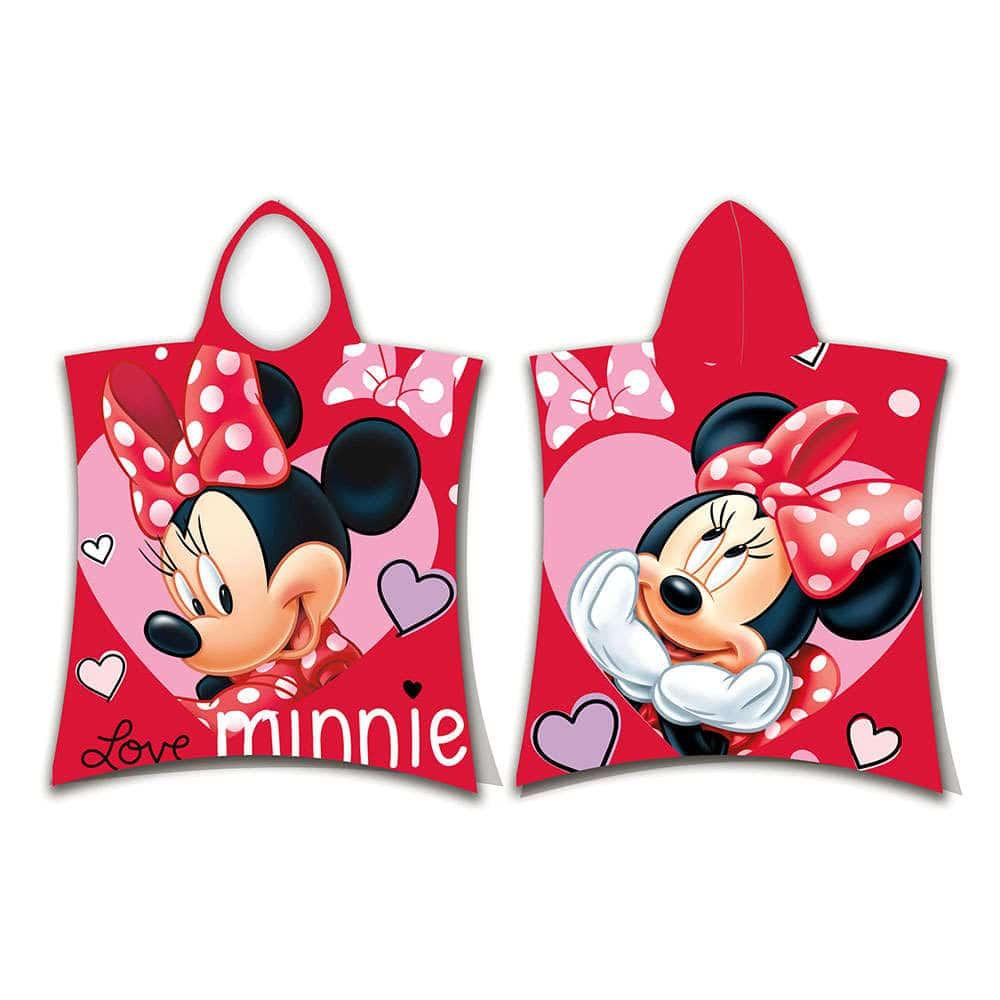 Πόντσο Disney Minnie 05 Red DimCol 0-2 ετών One Size
