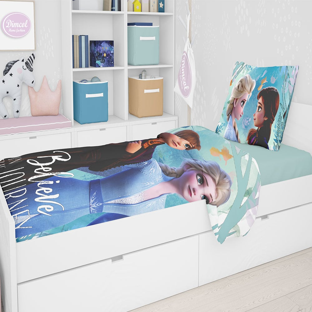 Σεντόνι Παιδικό Σετ 3 τεμ Disney Frozen 983 Digital Print Multi Dim Μονό 165x245cm