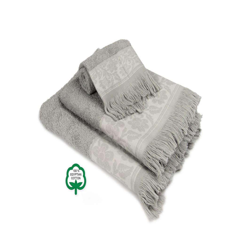 Πετσέτες Σετ 3Τμχ Νέμεσις 11 Dark Grey DimCol Σετ Πετσέτες 70x140cm