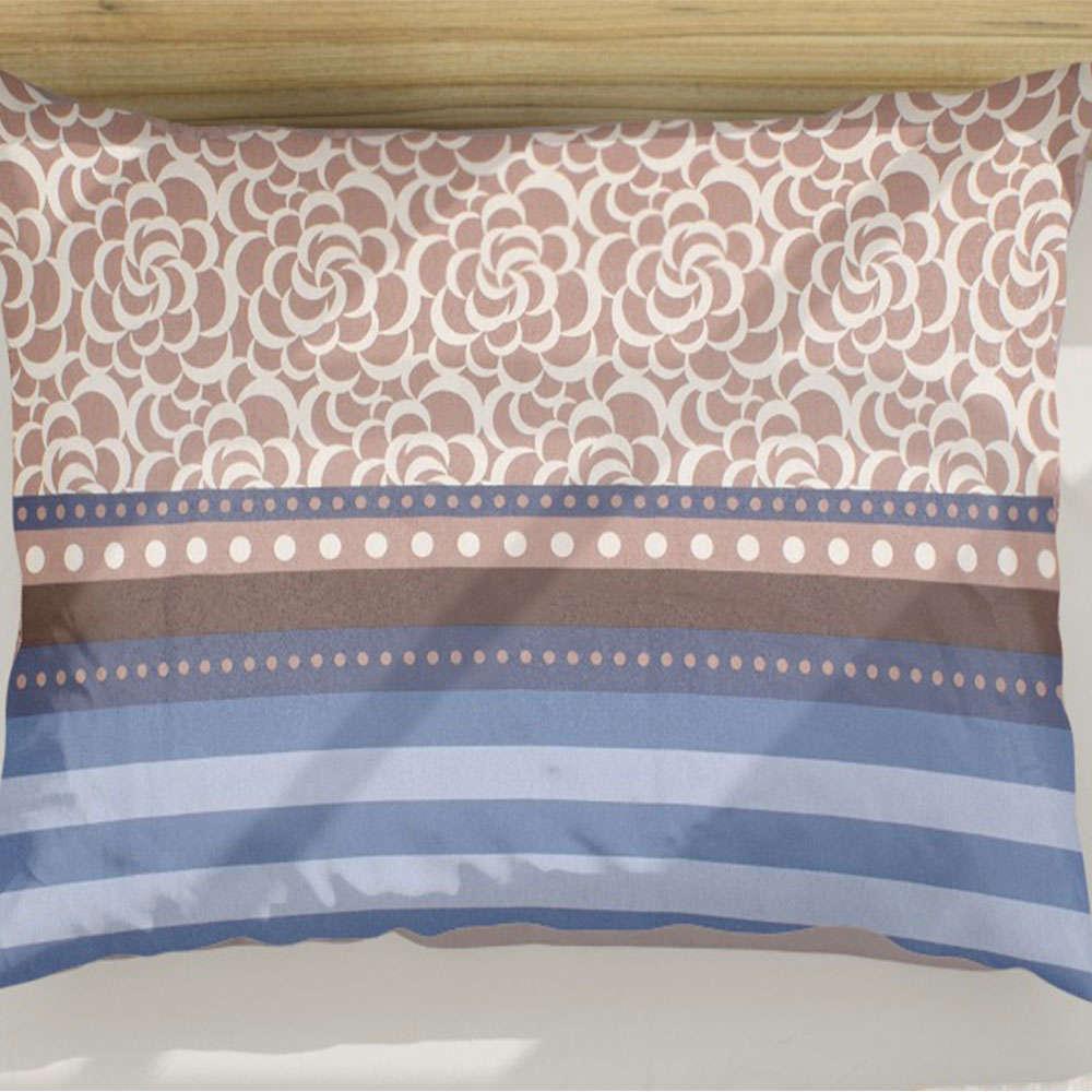 Μαξιλαροθήκη Νοσταλγία 261 Blue-Beige DimCol 50Χ70