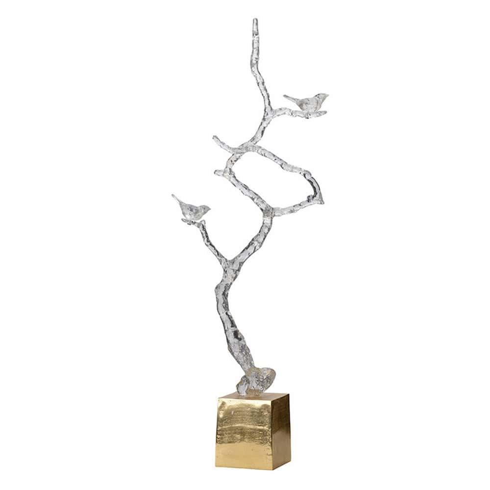 Διακοσμητικό Επιτραπέζιο Κλαδί AV42484 Clear Artekko Μέταλλο,Γυαλί