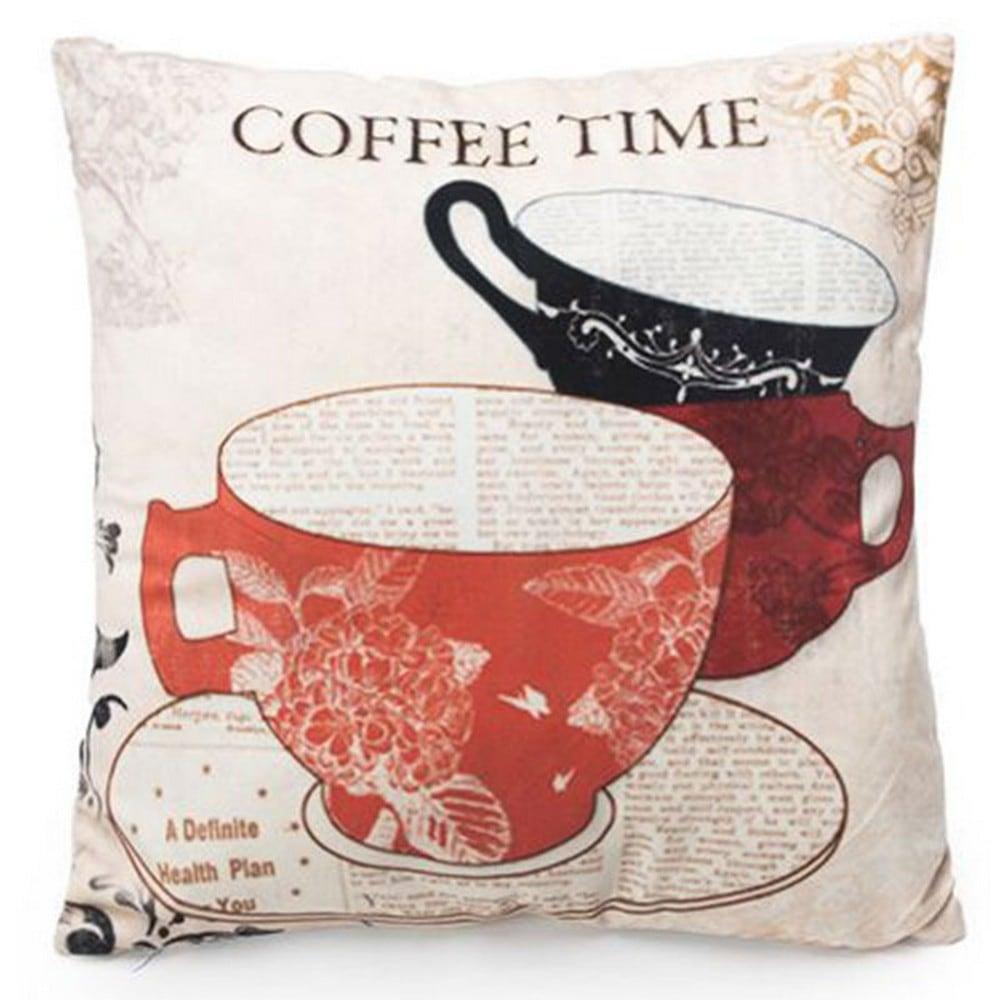 Μαξιλάρι Διακοσμητικό (Με Γέμιση) Coffee Lovers 110-3002 Artekko 45X45 Ύφασμα