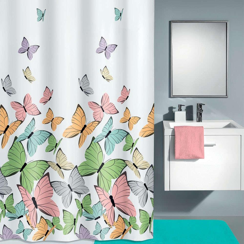 Κουρτίνα Μπάνιου Butterflies 5282 Multicolor Kleine Wolke Φάρδος 180cm