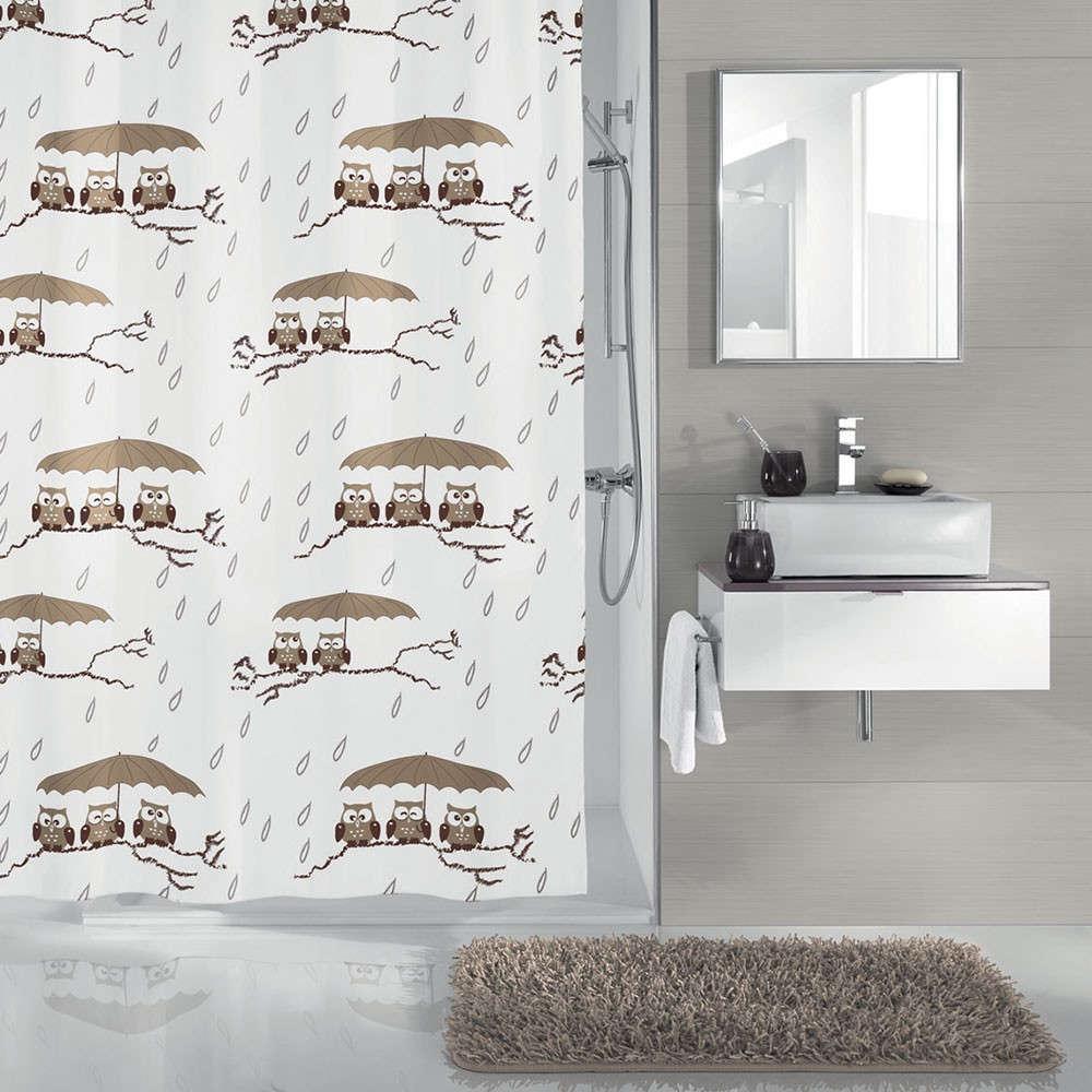 Κουρτίνα Μπάνιου Eulen 5222 Taupe Kleine Wolke Φάρδος 240cm