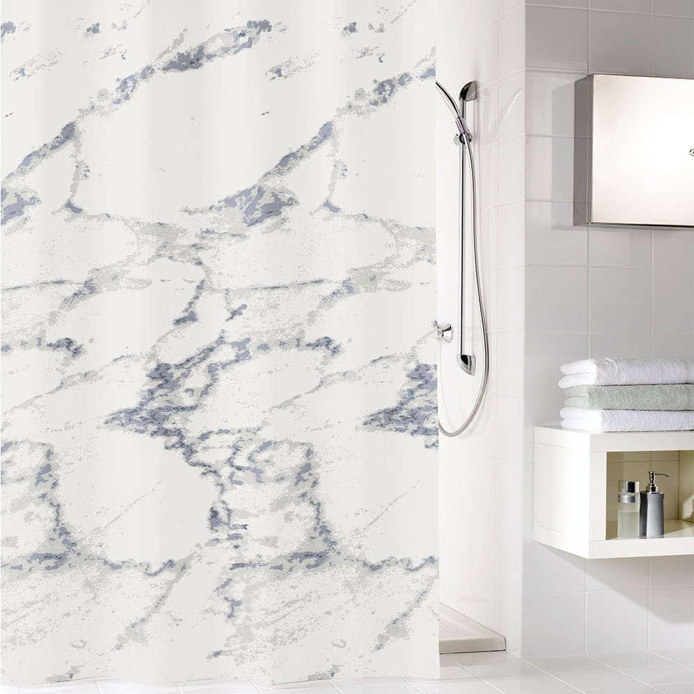 Κουρτίνα Μπάνιου Marble 5283 Anthracite Kleine Wolke Φάρδος 120cm