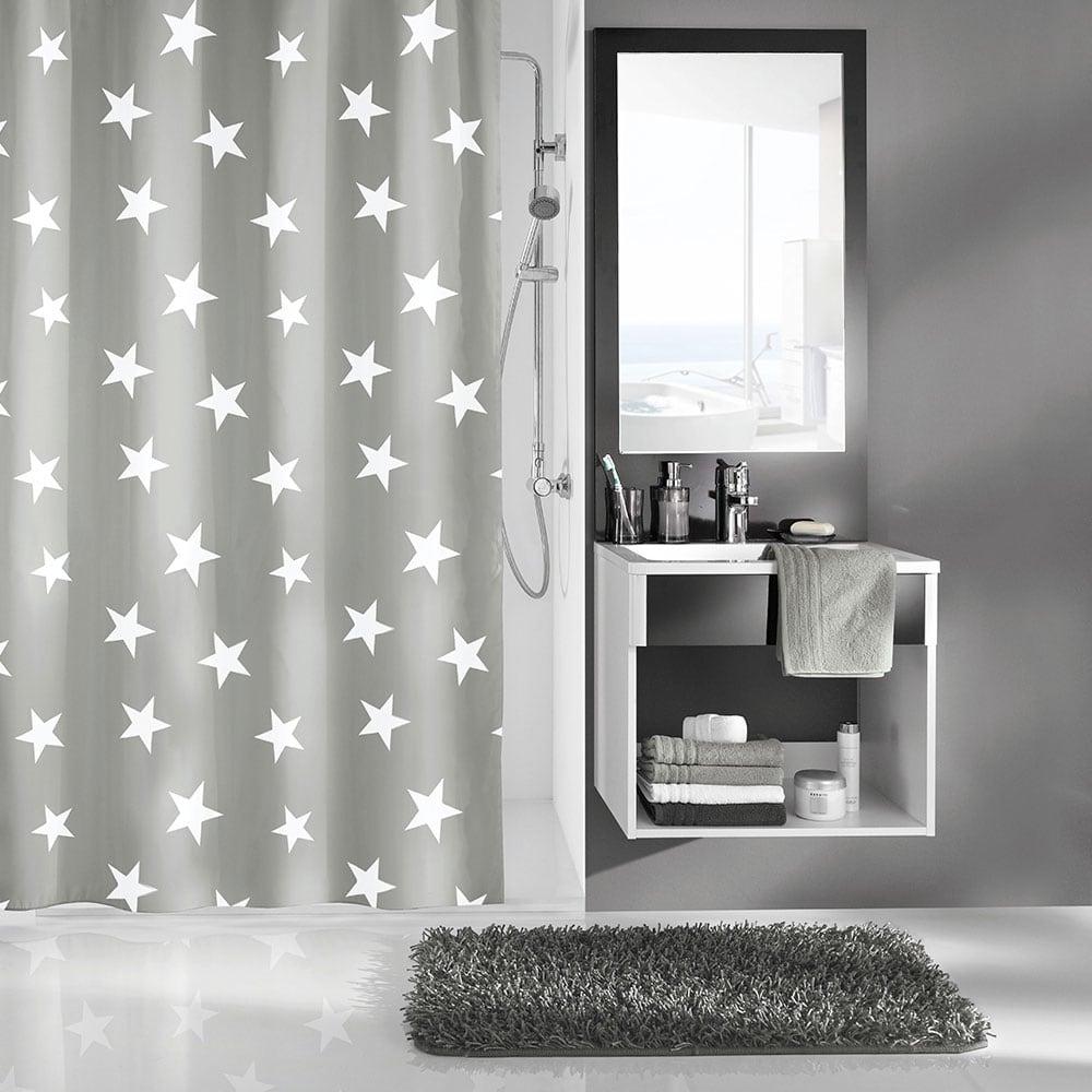 Κουρτίνα Μπάνιου Nova 5274 Platinum Kleine Wolke Φάρδος 180cm 180x200cm