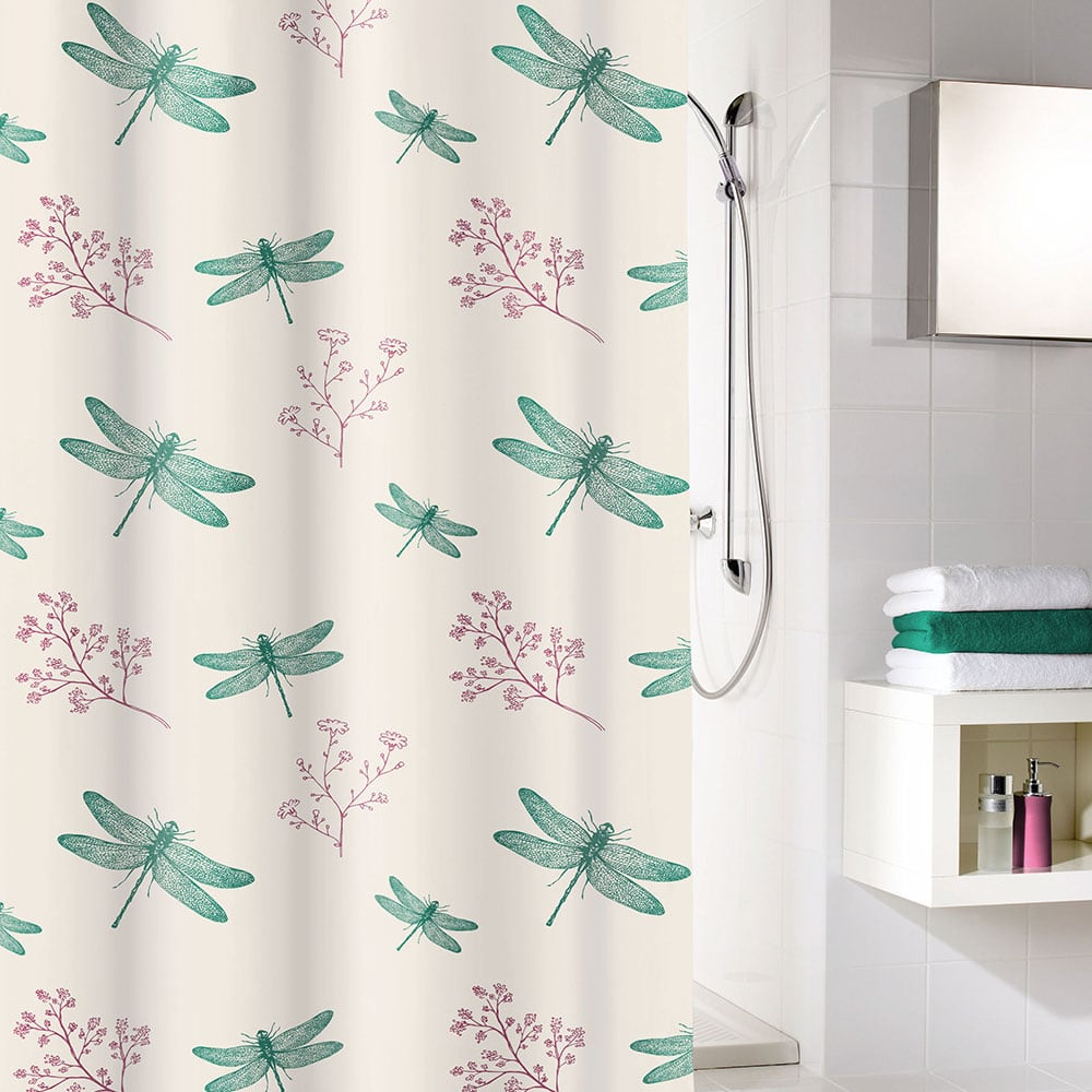 Κουρτίνα Μπάνιου Scarlett 5915 Smaragd Kleine Wolke Φάρδος 180cm 180x200cm