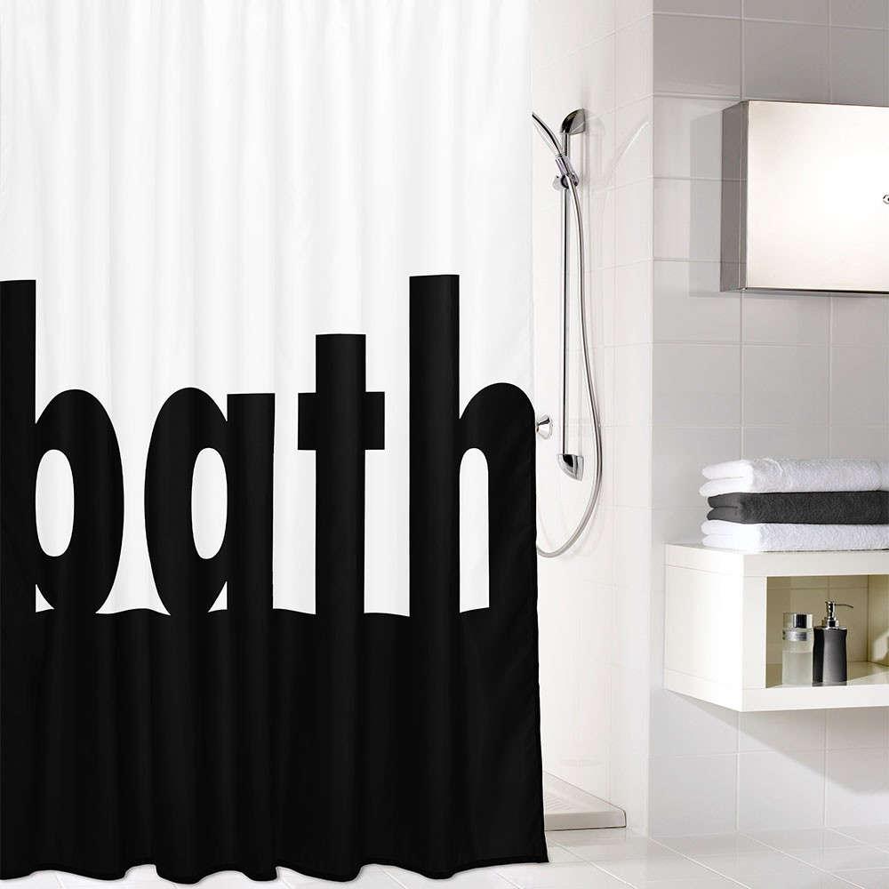 Κουρτίνα Μπάνιου Bath 5959 Black White Kleine Wolke Φάρδος 200cm