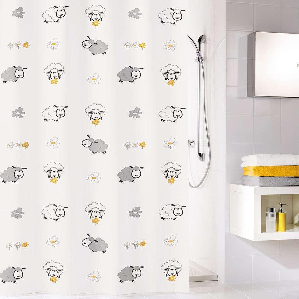 Κουρτίνα Μπάνιου Sheep 5130 Multicolor Kleine Wolke Φάρδος 200cm