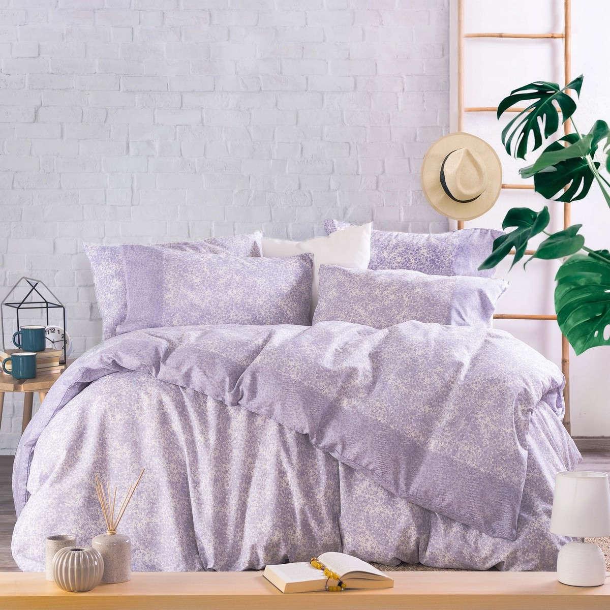Σεντόνια Σετ 3Τμχ. Next Caressa Purple Με Λάστιχο Ρυθμός Μονό 105x205cm