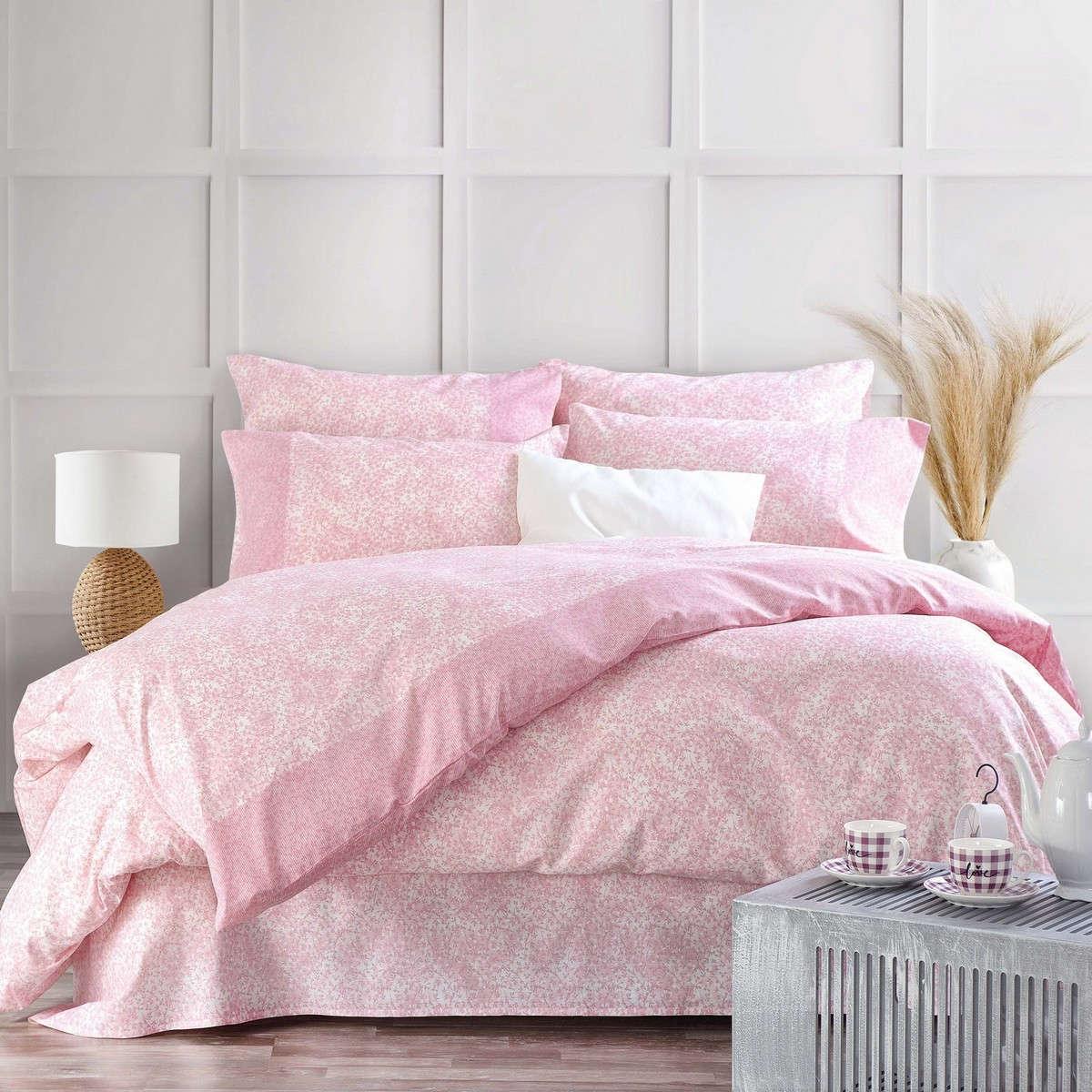 Σεντόνια Σετ 3Τμχ. Next Caressa Pink Με Λάστιχο Ρυθμός Μονό 105x205cm
