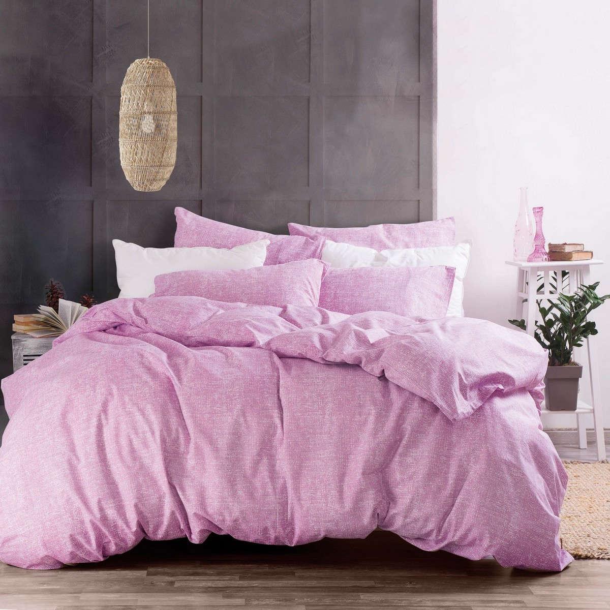 Σεντόνια Σετ Nova Cielo Pink Με Λάστιχο Ρυθμός Μονό 105x205cm