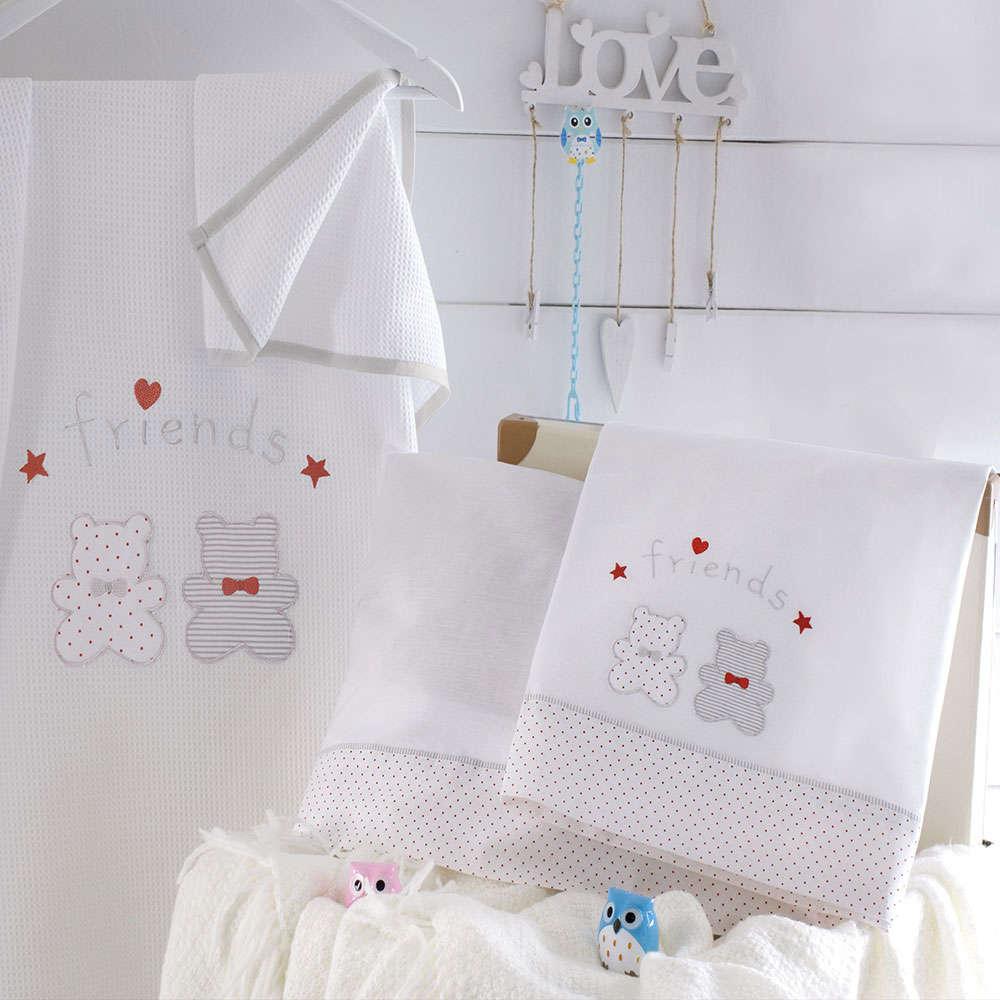 Κουβέρτα Πικέ Bip & Pip White Ρυθμός Κούνιας 120x150cm