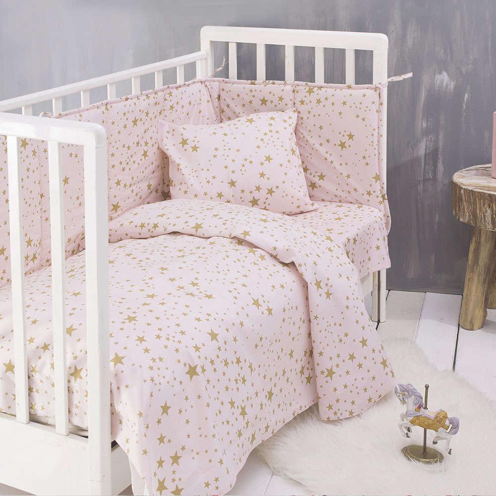 Σεντόνι Λίκνου Estella Baby Pink Ρυθμός Λίκνου 80x110cm