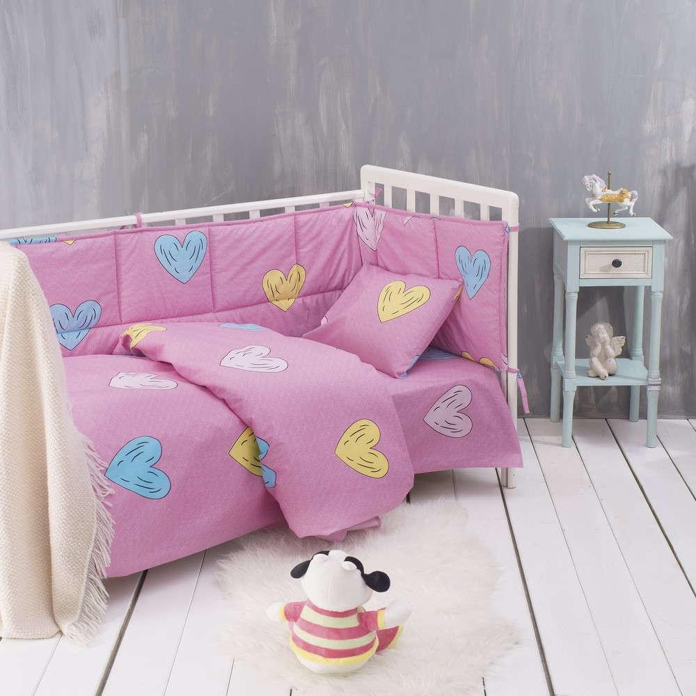 Σεντόνι Λίκνου Libi Baby Pink Ρυθμός Λίκνου 80x110cm