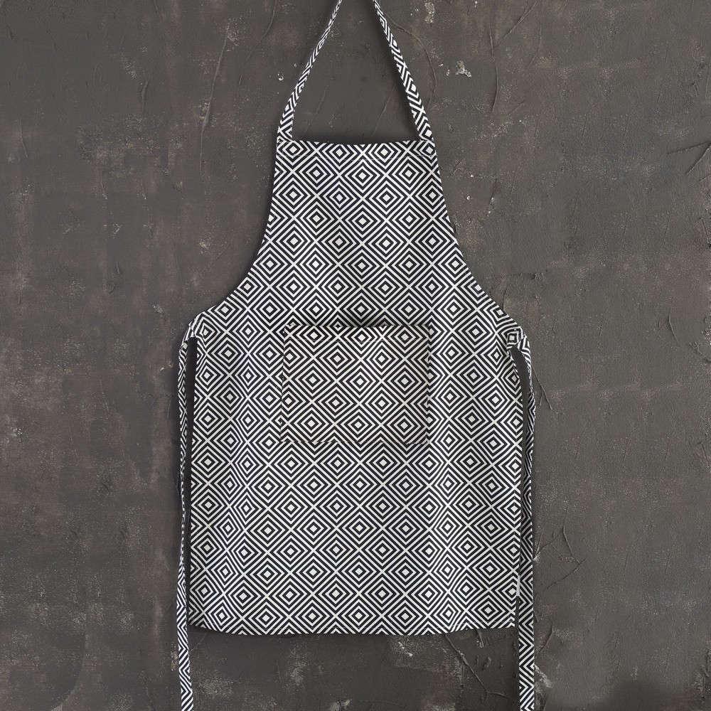 Ποδιά Multi Black-White Ρυθμός 60x80cm