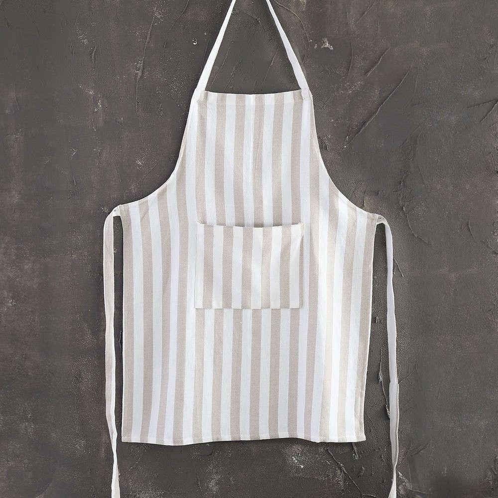 Ποδιά Stripes Grey-White Ρυθμός 60x80cm