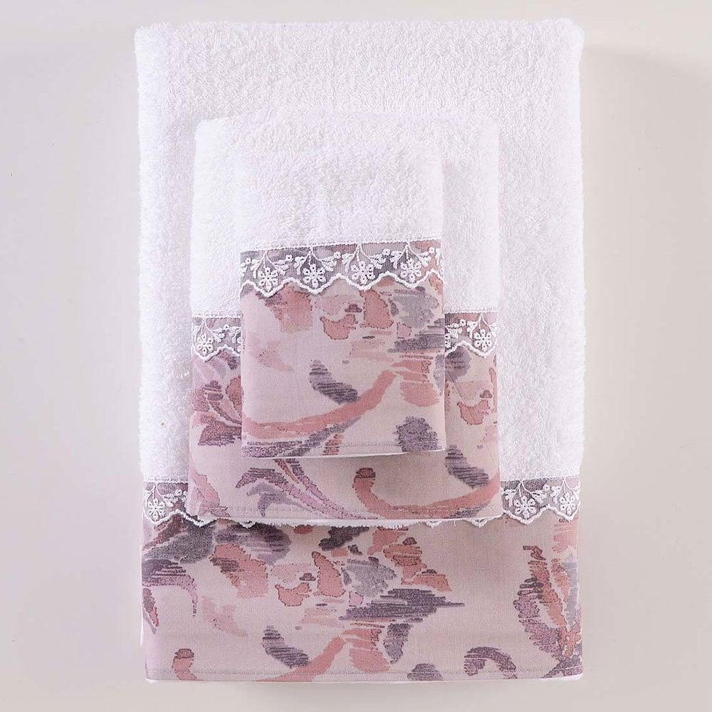 Πετσέτες Selma Σετ 3τεμ. White-Apple Ρυθμός Σετ Πετσέτες