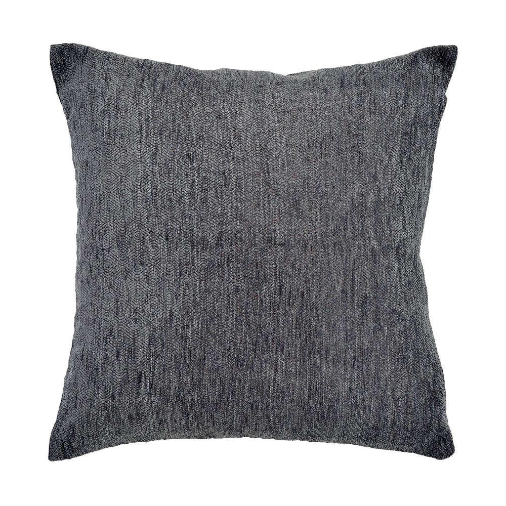 Μαξιλαροθήκη Διακοσμητική Mandala 02 Grey Ρυθμός 45X45 Chenille-Polyester