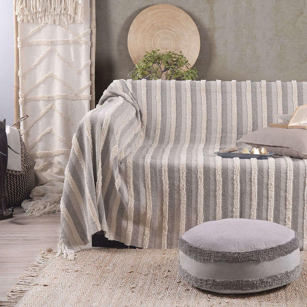 Μαξιλαροθήκη Διακοσμητική Sehrazat Grey Ρυθμός 45X45 100% Βαμβάκι