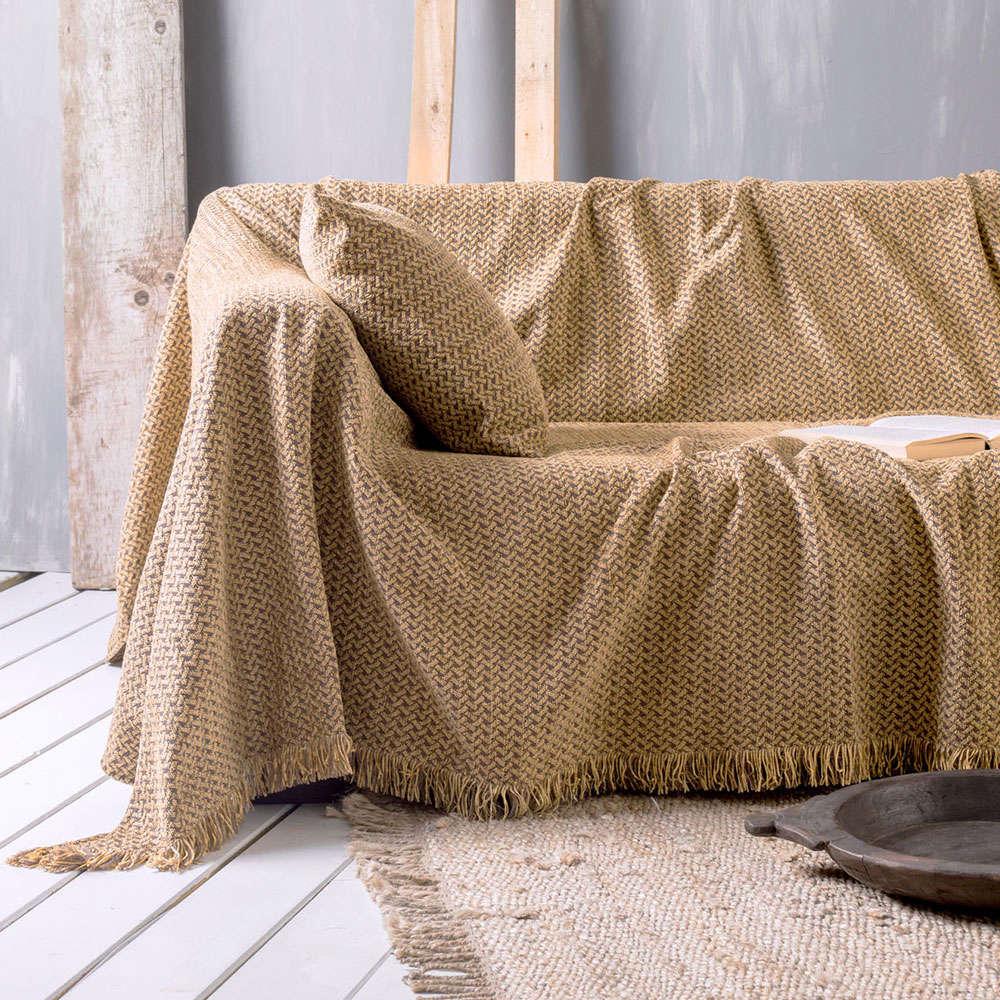 Μαξιλαροθήκη Διακοσμητική Vanda 03 Gold Ρυθμός 45X45 Chenille-Polyester