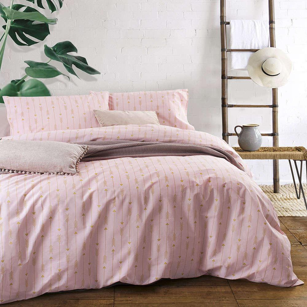 Μαξιλαροθηκες Σετ 2τμχ Arrow Pink Ρυθμός 50Χ70 50x70cm