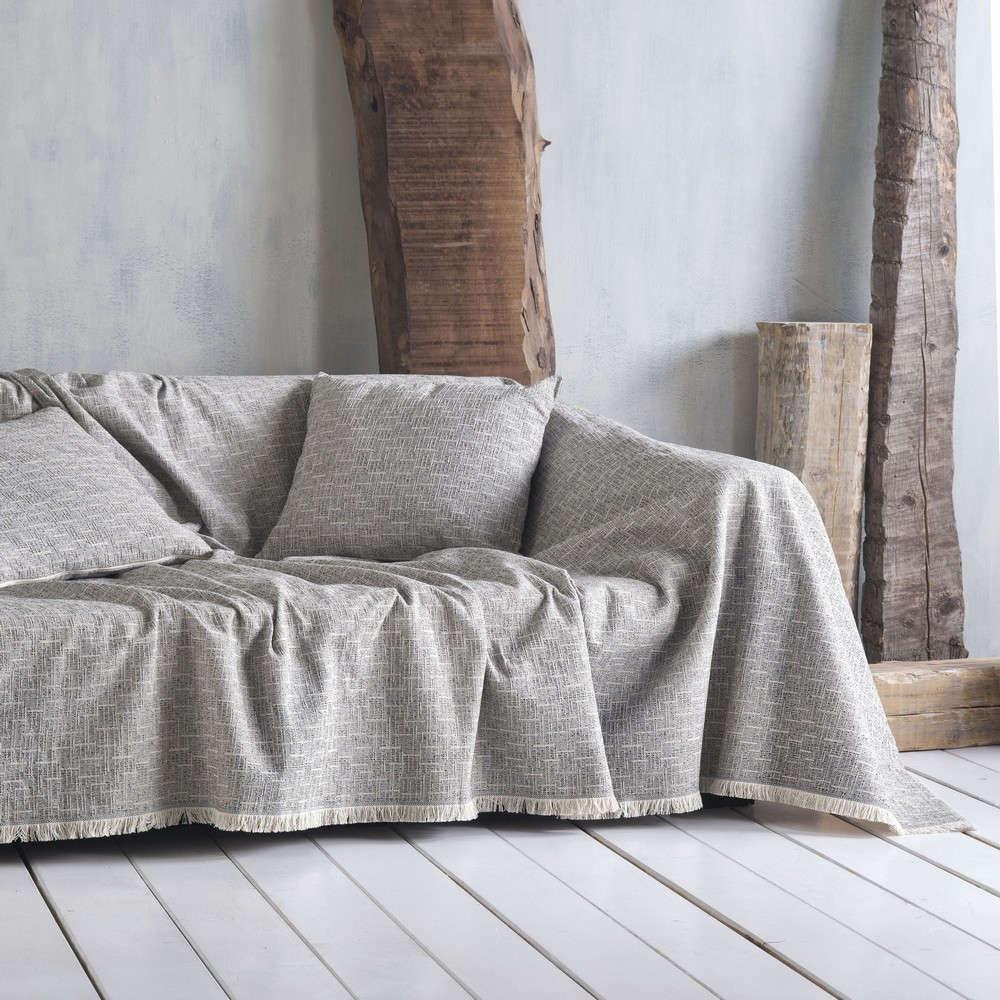 Μαξιλαροθήκη Διακοσμητική Dorset 02 Grey Ρυθμός 40Χ40 Βαμβάκι-Polyester